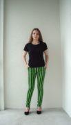 брюки в полоску с высокой талией Greenery stripes