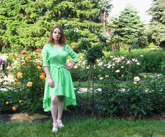 Платье Fairy Greenery салатовое