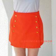 Оранжевые шорты с высокой талией OxyMoronShop