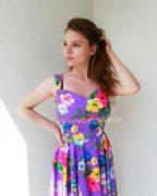 Платье сиреневое с неровным низом Violet Garden2