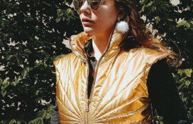 Жилет золотого цвета SunLight